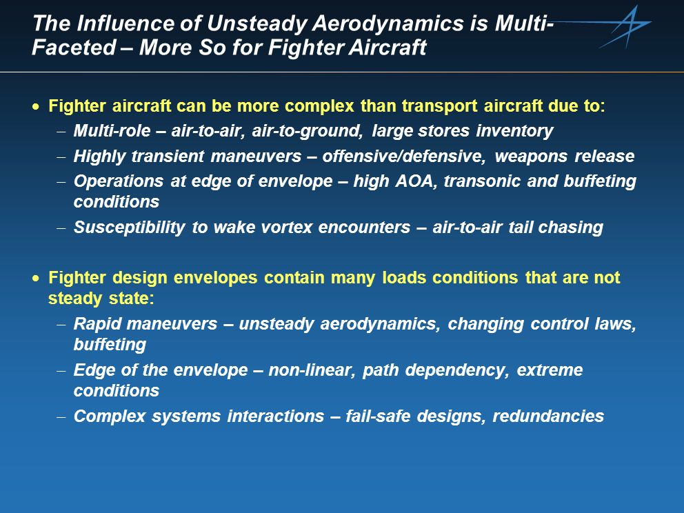 The Influence of Unsteady Aerodynamics is Multi-Faceted – More So for Fighter Aircraft