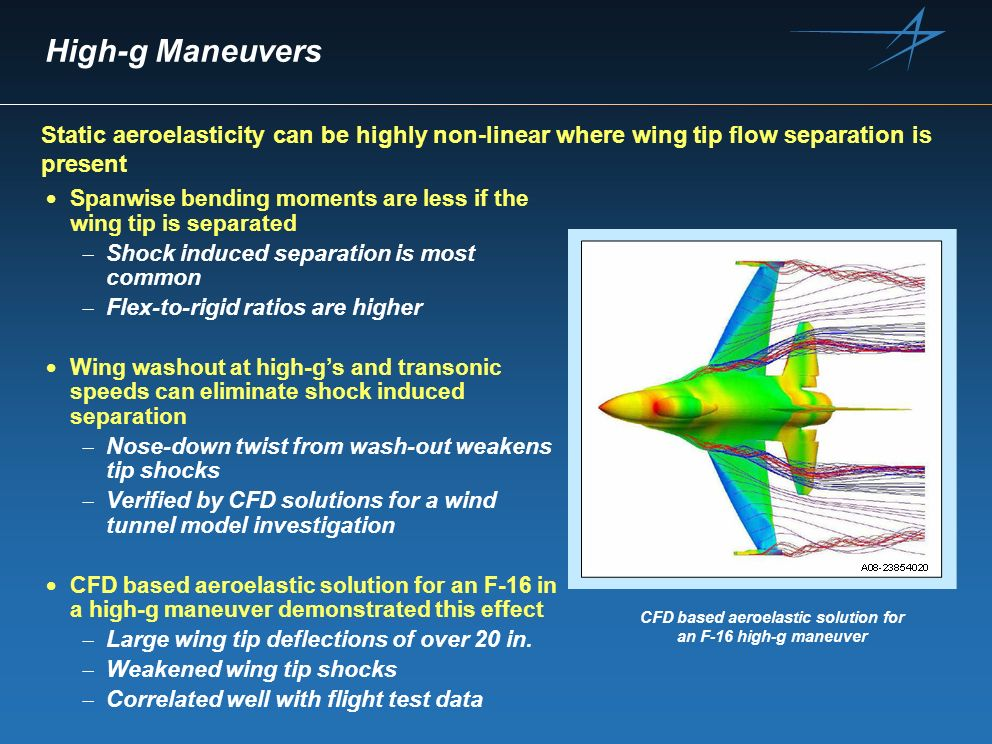 CFD based aeroelastic solution for an F-16 high-g maneuver