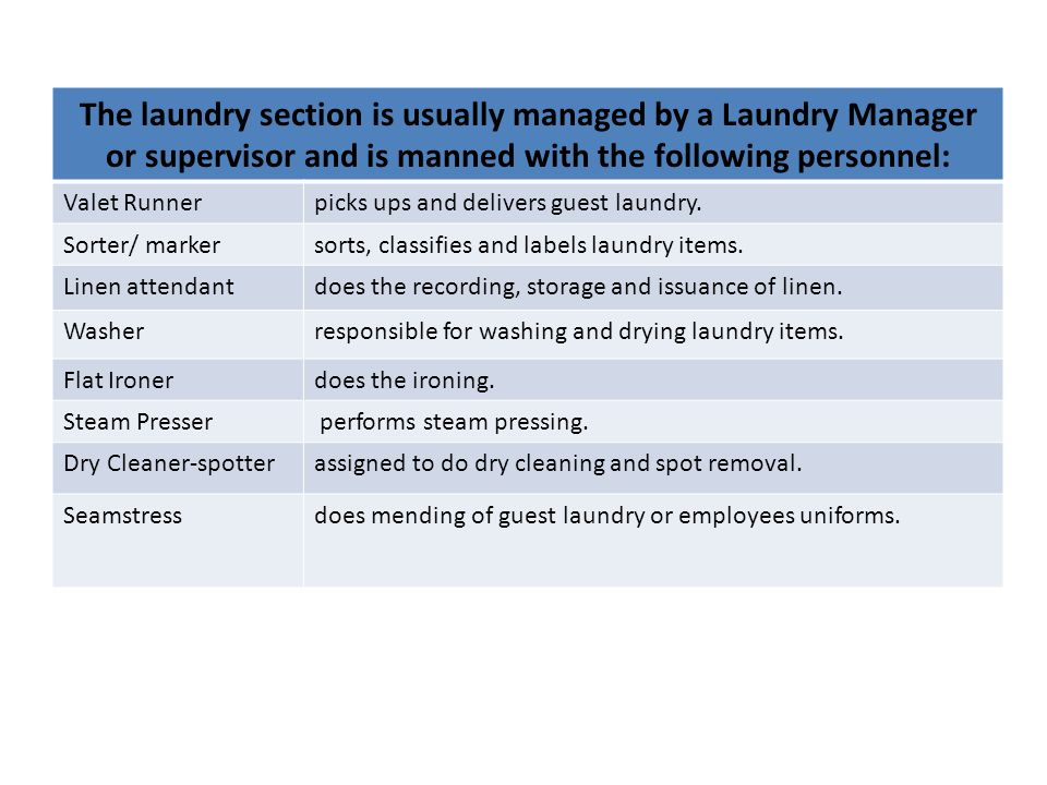 Linen and Laundry Service - ppt video online download