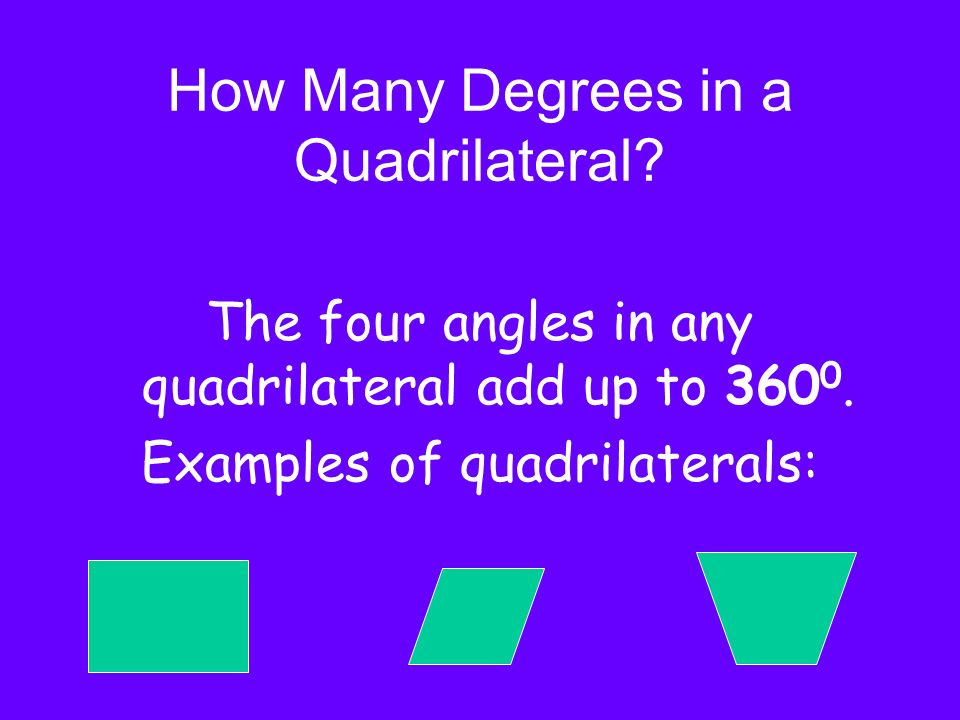 How Many Degrees in a Quadrilateral