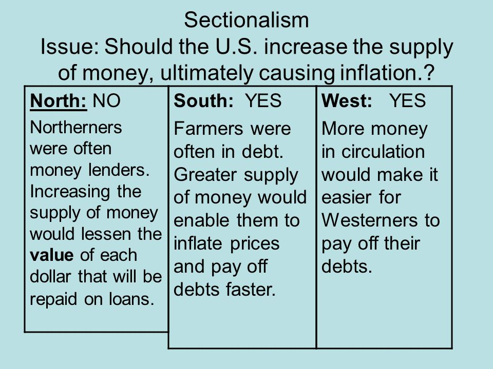 Sectionalism Issue: Should the U. S