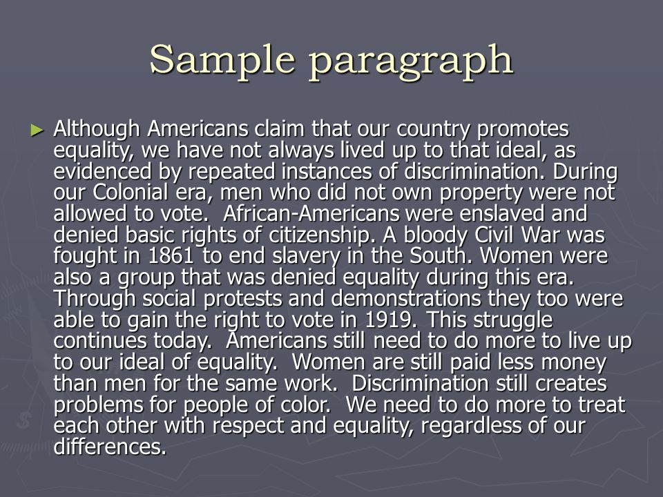 The Declaration Of Independence  Ppt Download  Sample Paragraph