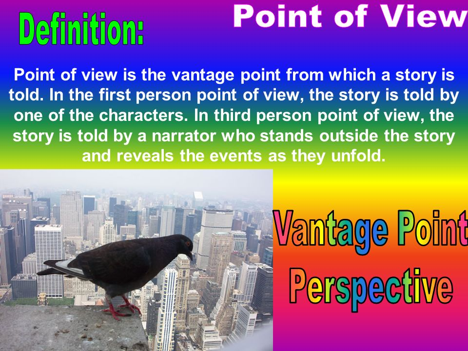 Point of View Definition: Vantage Point Perspective