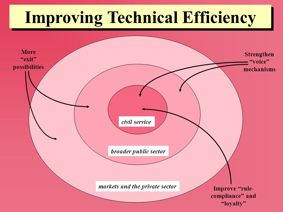 Improving Technical Efficiency