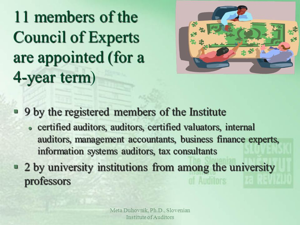 11 members of the Council of Experts are appointed (for a 4-year term)