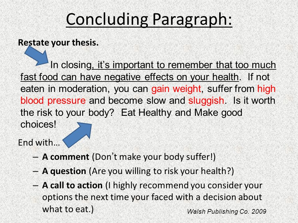 how to restate a thesis