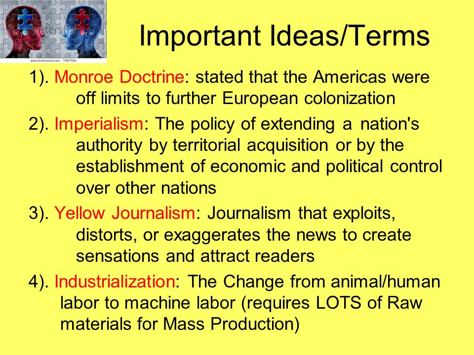 Important Ideas/Terms