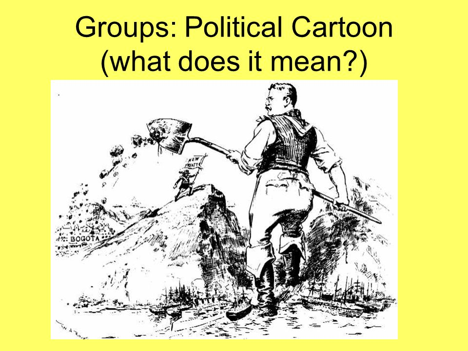 Groups: Political Cartoon (what does it mean )