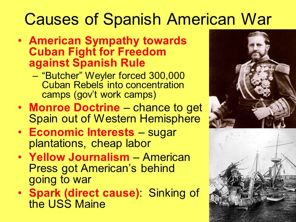 spanish american war identify the causes and effects of the spanish rh slideplayer com guided reading activity 12-2 the spanish american war the spanish american war guided reading and review