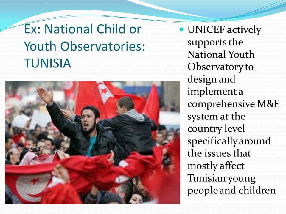 Ex: National Child or Youth Observatories: TUNISIA