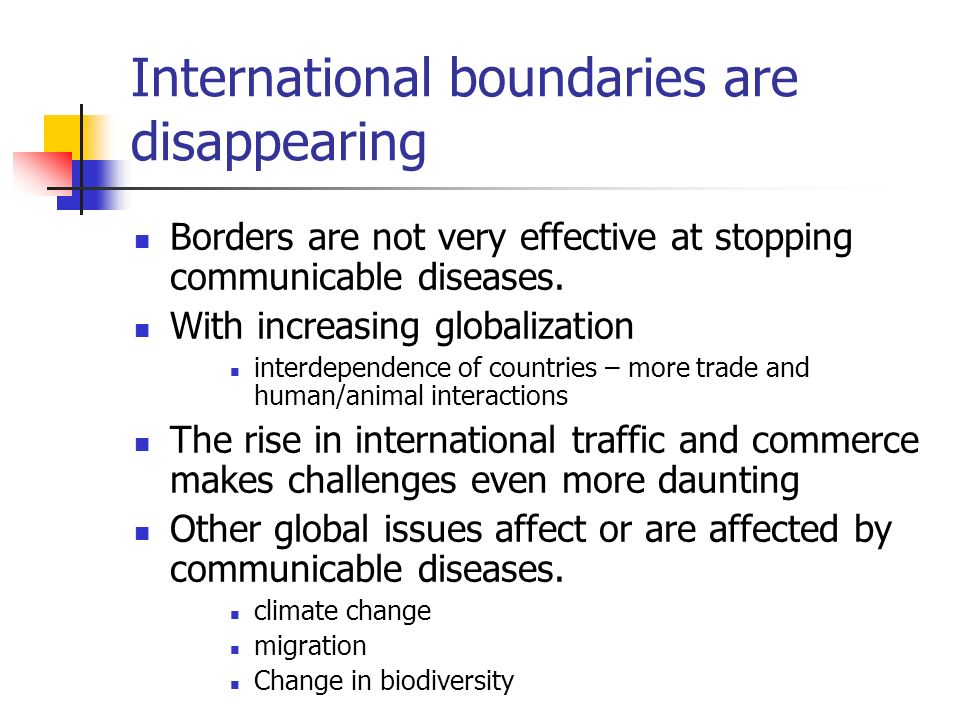 International boundaries are disappearing