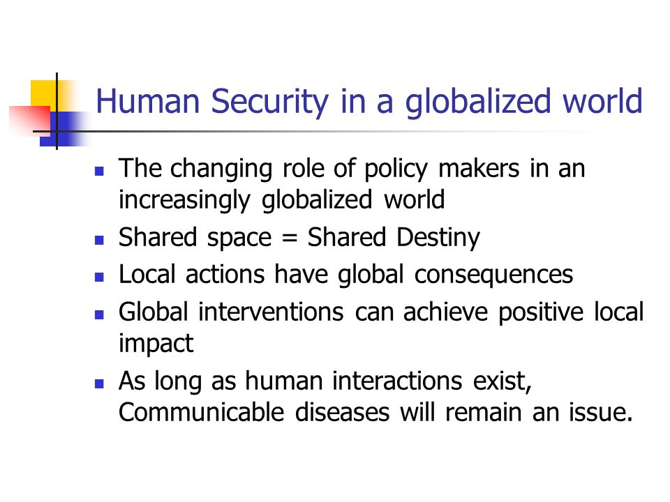 Human Security in a globalized world