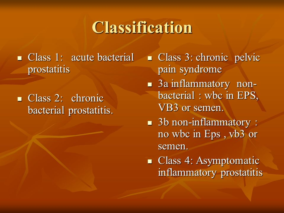 A 3A- as prostatitis