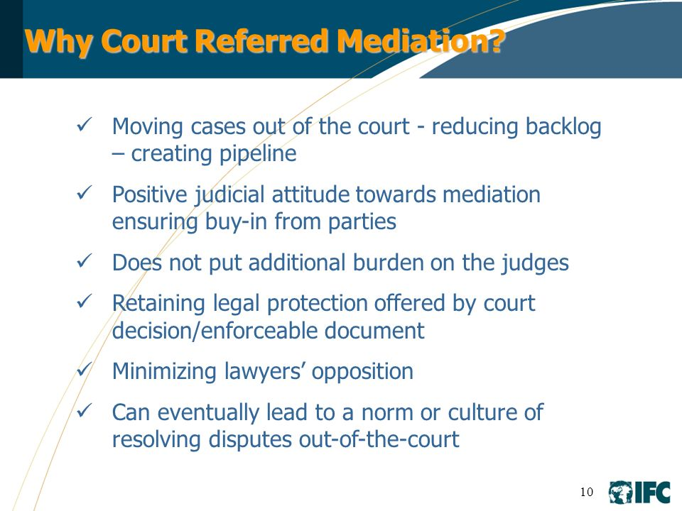 Why Court Referred Mediation