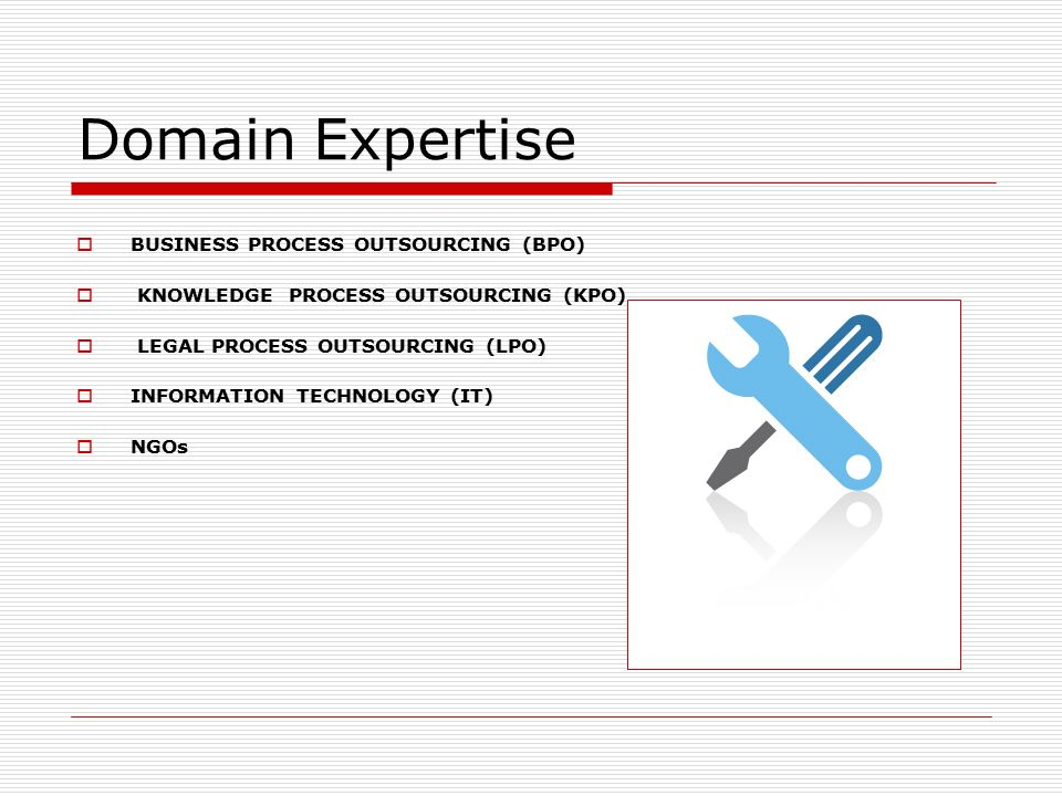 Domain Expertise BUSINESS PROCESS OUTSOURCING (BPO)