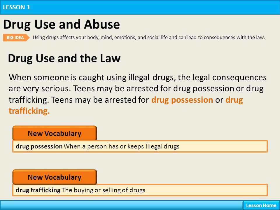 Chapter 16 Drugs Lesson 1 Drug Use and Abuse  - ppt download