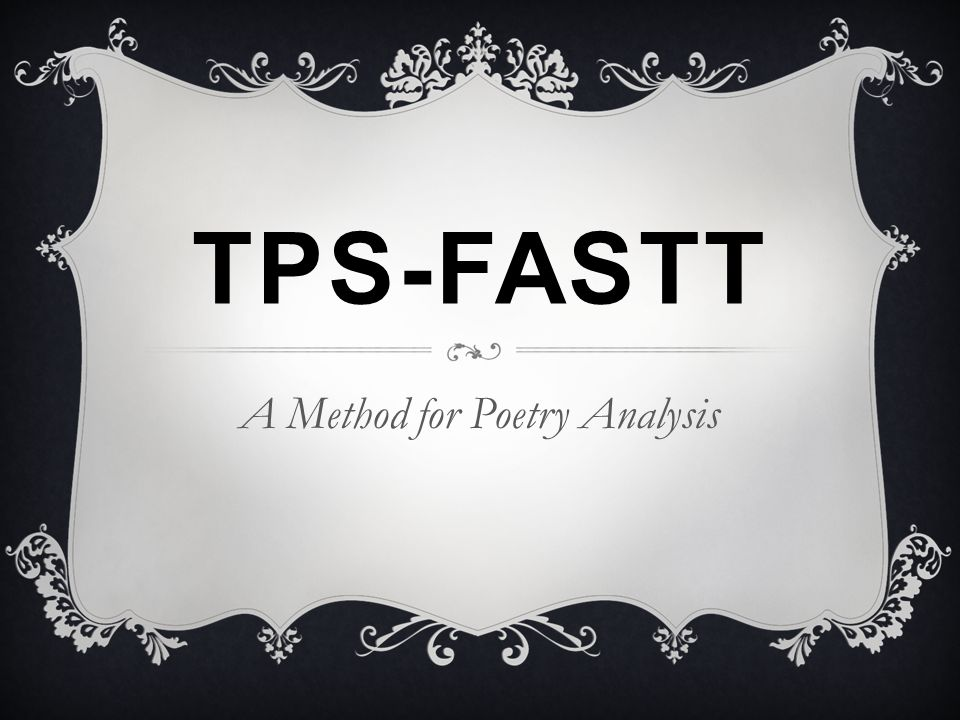 A Method for Poetry Analysis
