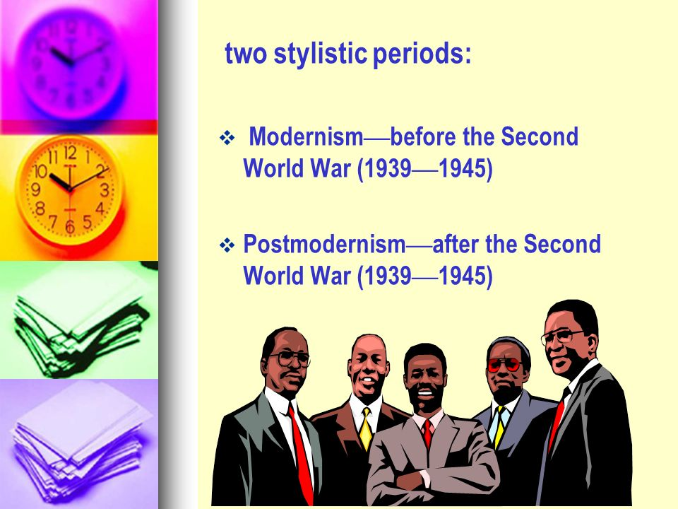 two stylistic periods: