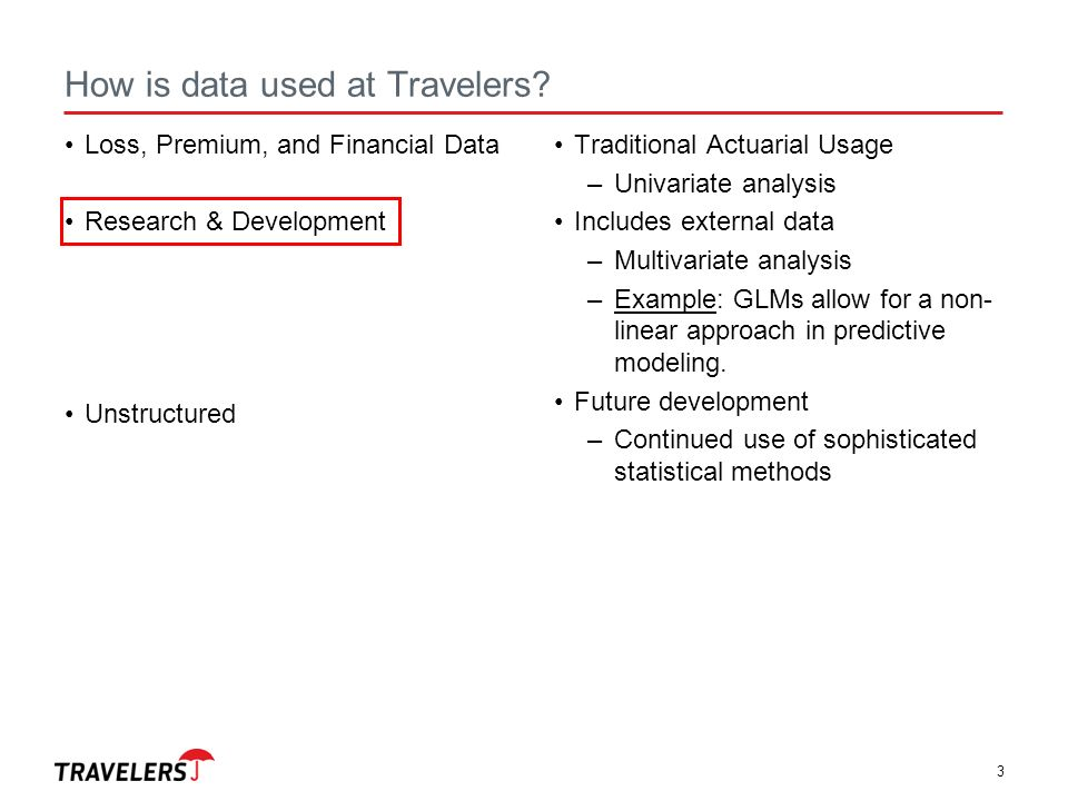 Travelers Analytics: U of M Stats 8053 Insurance Modeling