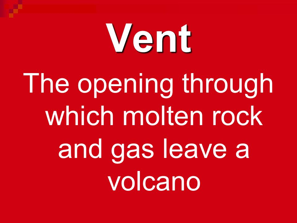 The opening through which molten rock and gas leave a volcano