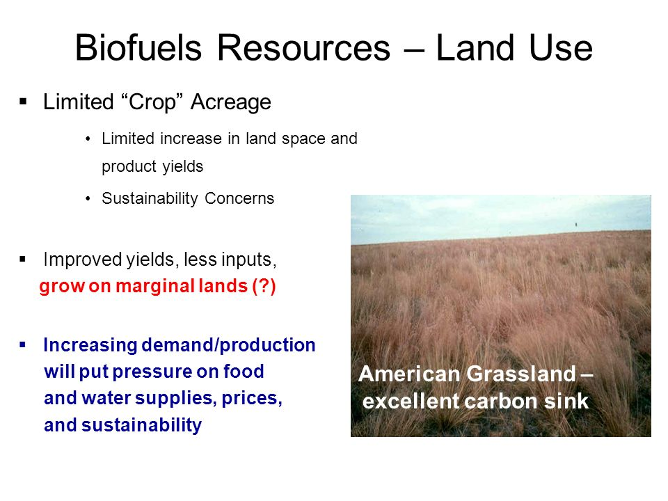 Biofuels Resources – Land Use