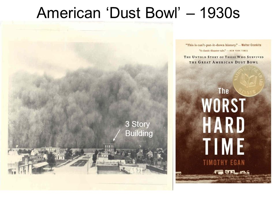American 'Dust Bowl' – 1930s