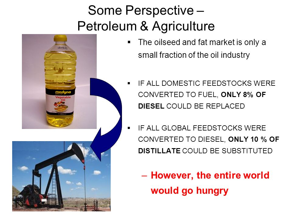 Some Perspective – Petroleum & Agriculture