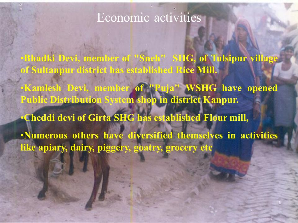 Economic activities Bhadki Devi, member of Sneh SHG, of Tulsipur village of Sultanpur district has established Rice Mill.