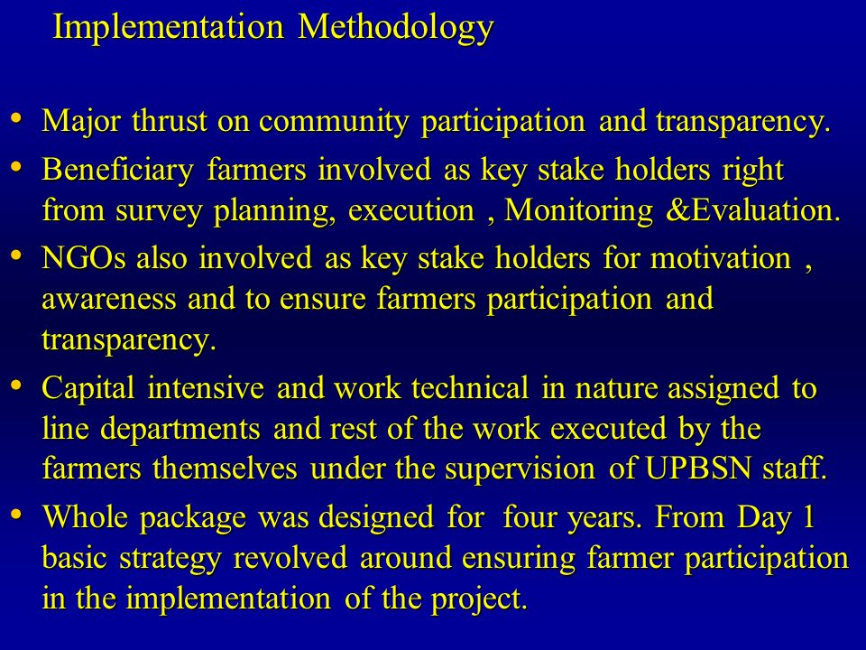 Implementation Methodology