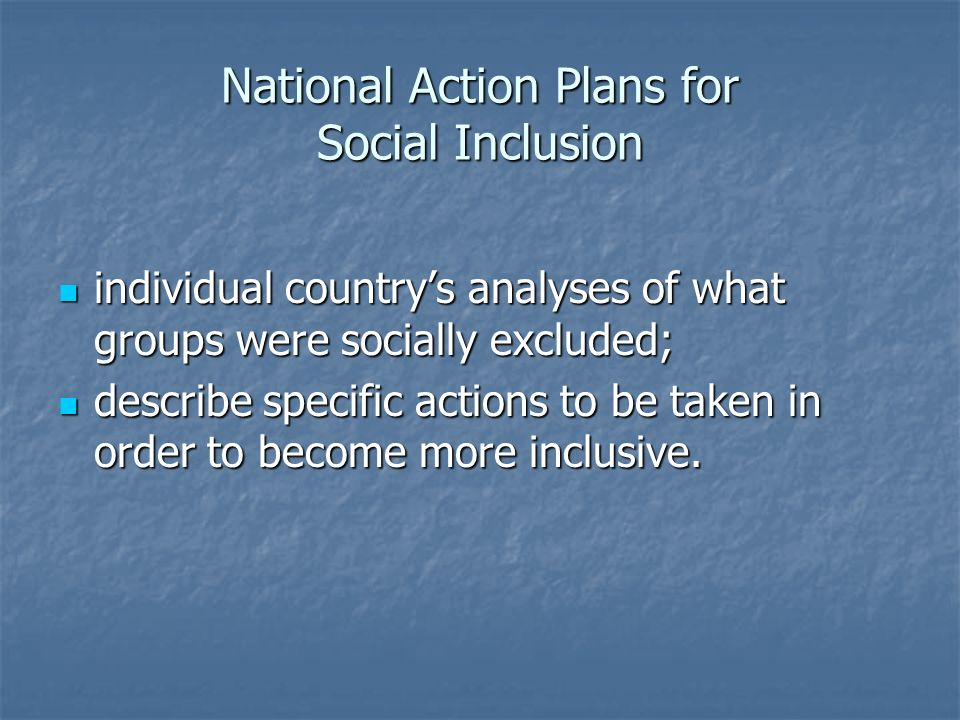 National Action Plans for Social Inclusion