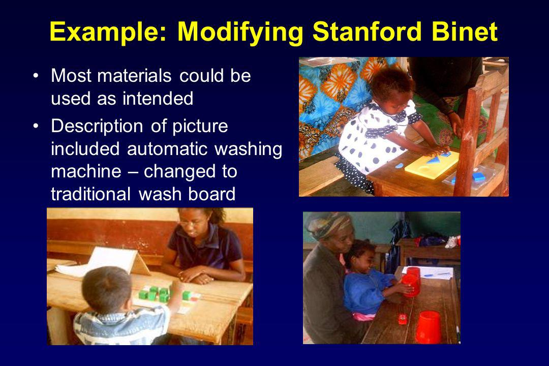 Example: Modifying Stanford Binet