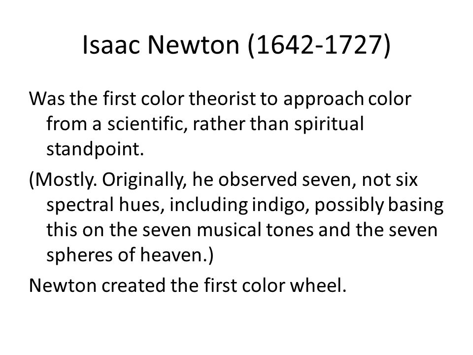 Brief History of Color Theories/The Color Wheel - ppt video