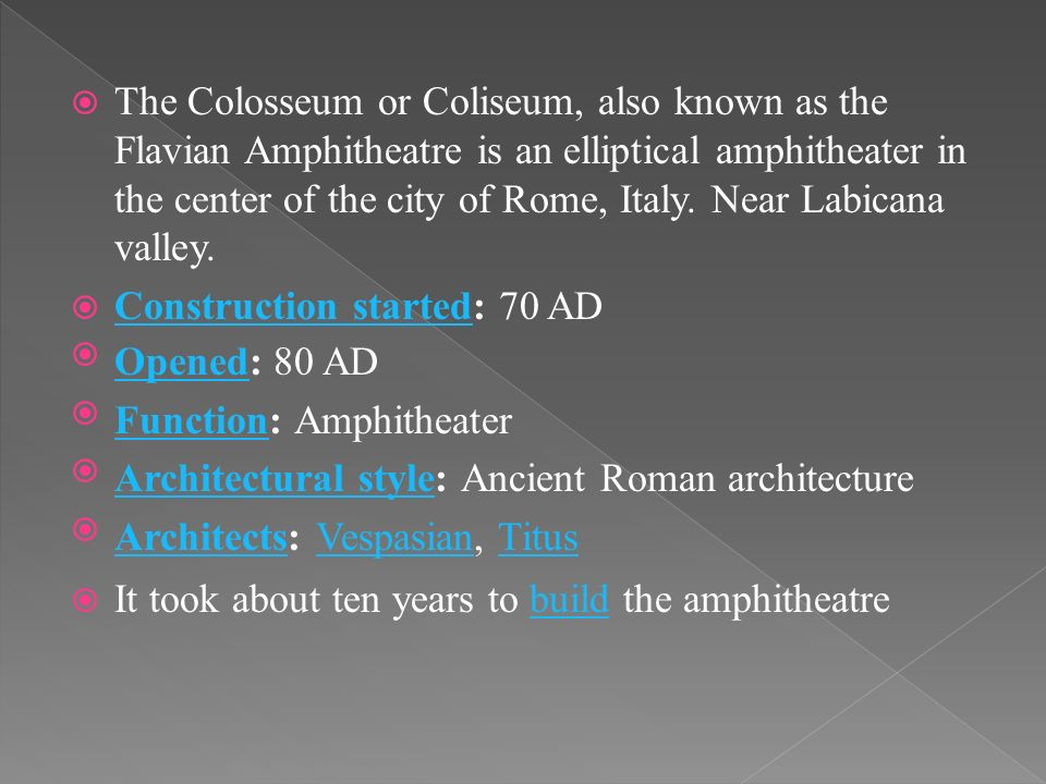 HISTORY AND THEORY OF ARCHITECTURE THE COLOSSEUM - ppt video