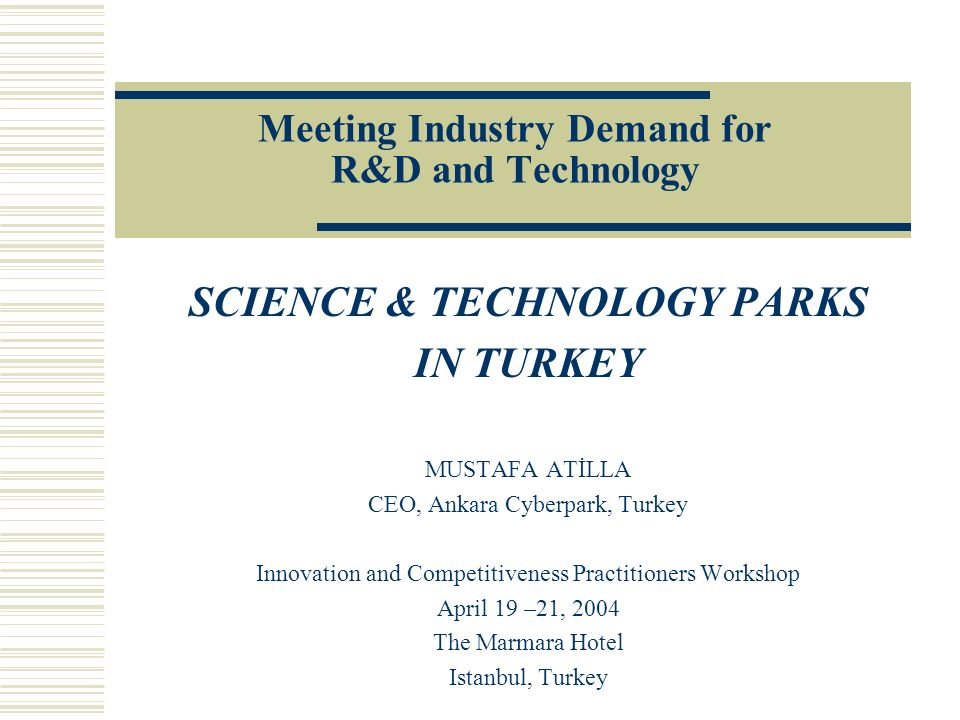 Meeting Industry Demand for R&D and Technology