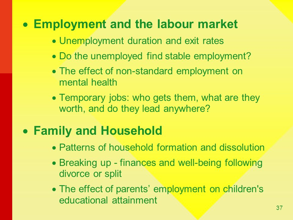 Employment and the labour market