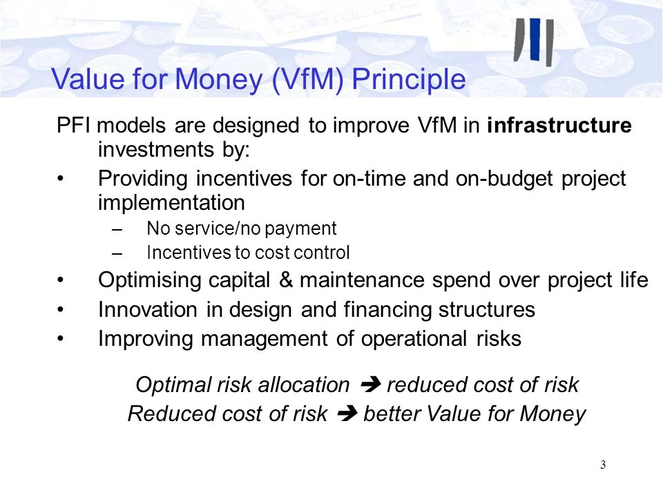 Value for Money (VfM) Principle