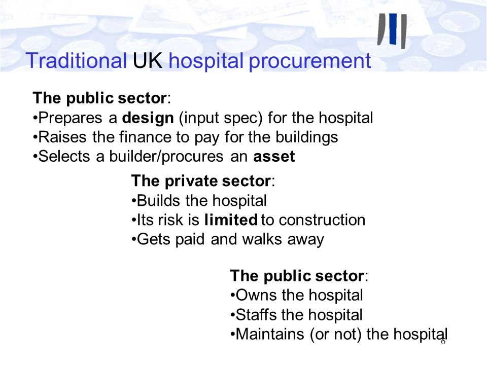 Traditional UK hospital procurement