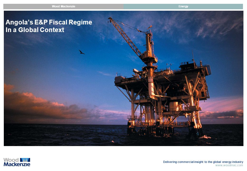 Angola's E&P Fiscal Regime In a Global Context