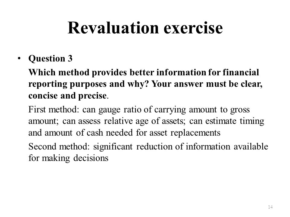 Revaluation exercise Question 3