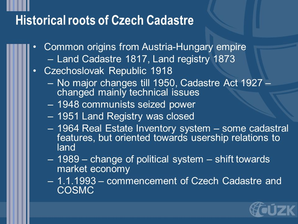 Historical roots of Czech Cadastre