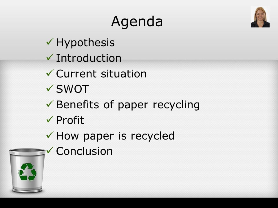 hypothesis of recycling