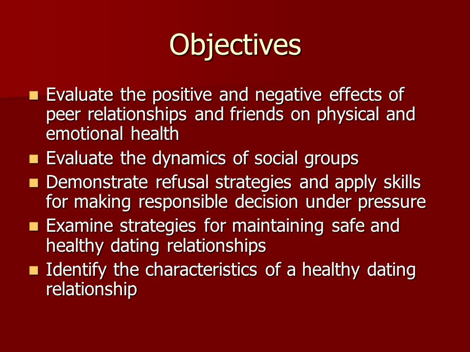 Positive effects of online dating