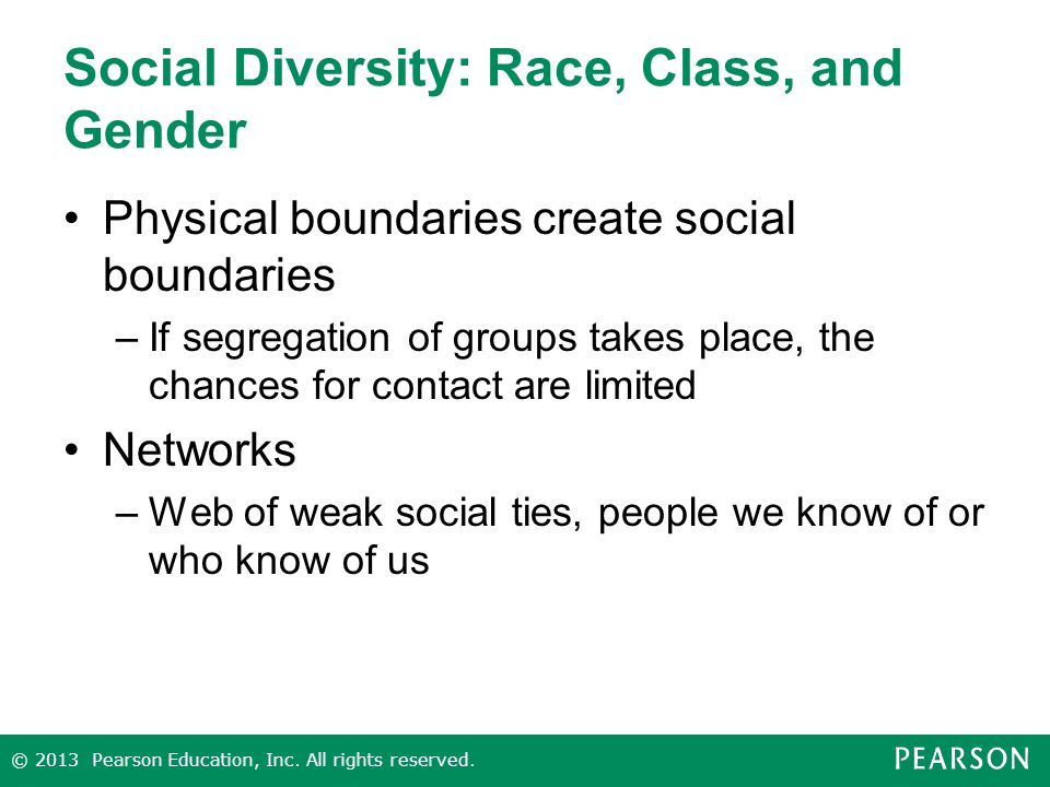 Social Diversity: Race, Class, and Gender
