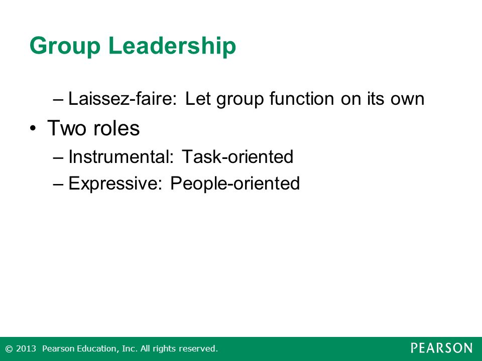Group Leadership Two roles