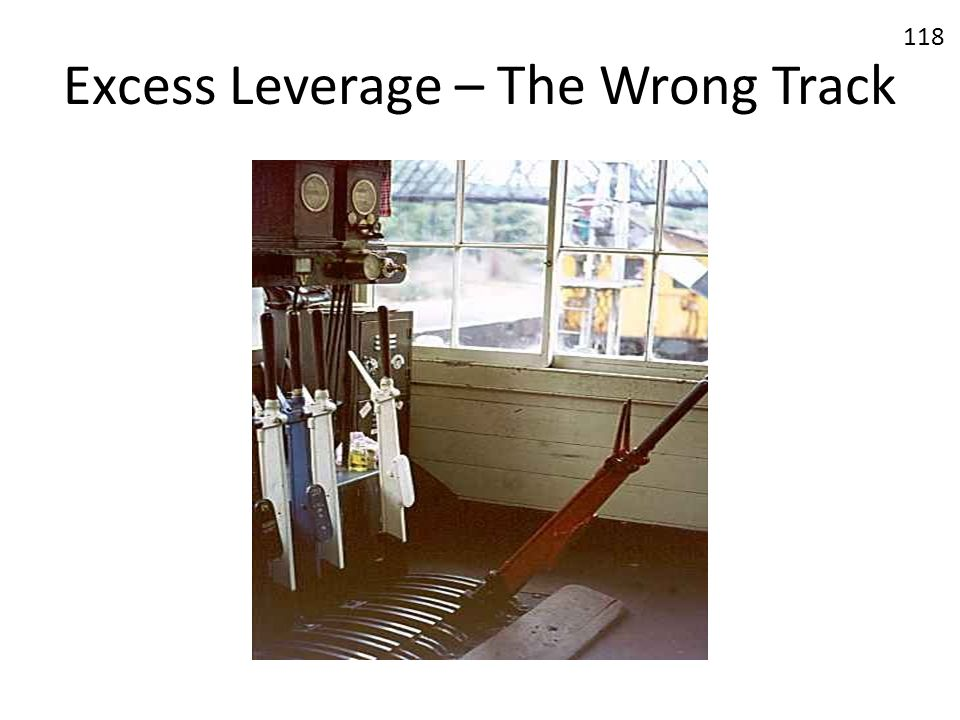 Excess Leverage – The Wrong Track
