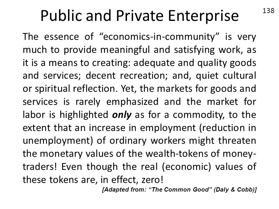Public and Private Enterprise