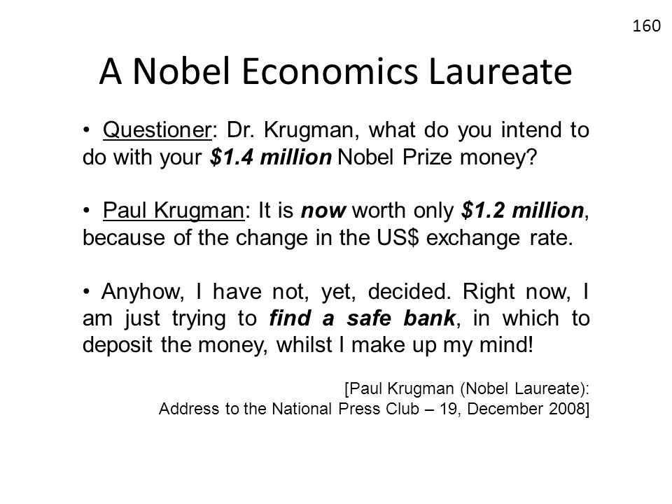 A Nobel Economics Laureate