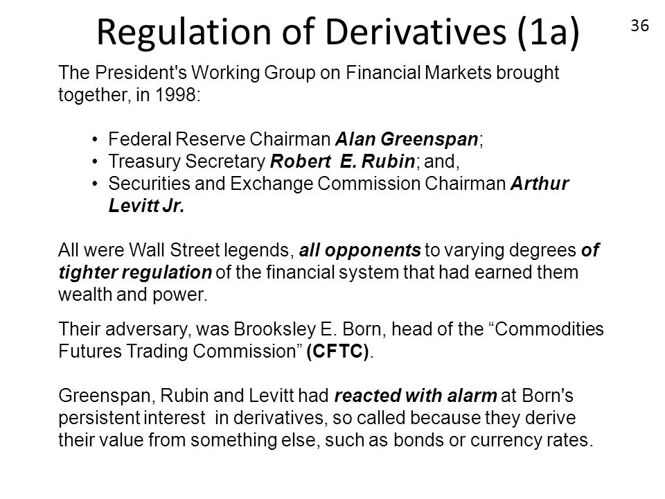 Regulation of Derivatives (1a)