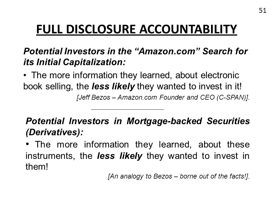 Full Disclosure Accountability