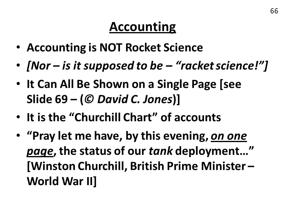 Accounting Accounting is NOT Rocket Science